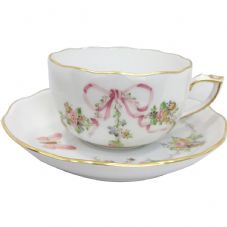 Herend EDENP Eden Pink Teacup and Saucer